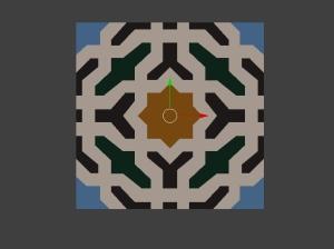 Zellige - Alhambra - Forme à plat