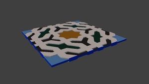 Zellige - Alhambra - Forme en relief