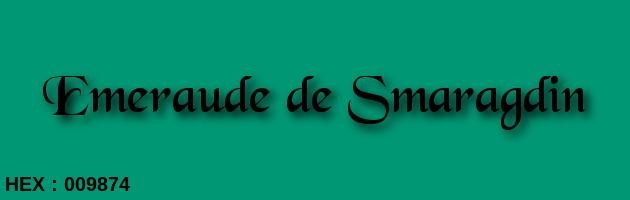 Emeraude de Smaragdin