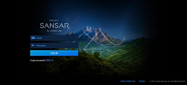 Login page Sansar